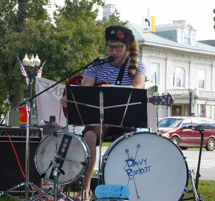 Davy Rockett at the Corner Farmers Market Sept. 2015