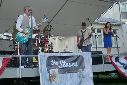The Steves playing at Entertainment Under the Stars, 7/8/2014