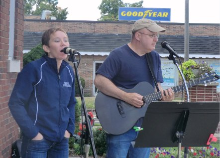 Haley Smith and Delbert Walling perform at the Coach Eby Center, Sept. 2013